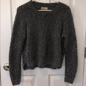 Gray fuzzy sparkly hollister sweater